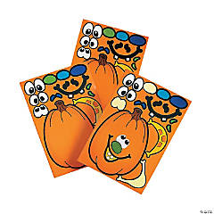 Jack O' Lantern Stickers Clip Strip