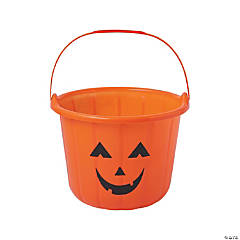 Jack-O'-Lantern Trick-or-Treat Buckets
