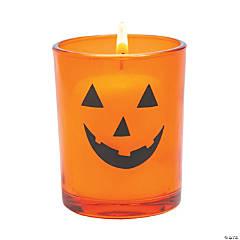 Jack-O'-Lantern Votive Candle Holders Halloween Decorations