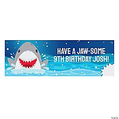 Jawsome Shark Party Photo Custom Banner - Medium