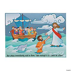 Jesus & Peter Walk on Water Mini Sticker Scenes