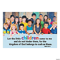 Jesus & the Children Backdrop Banner