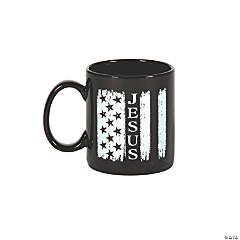 Jesus & USA Flag Coffee Mug