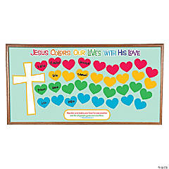 Jesus Colors Our Lives Valentine's Day Bulletin Board Set