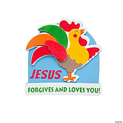 Jesus Forgives Rooster Magnet Craft Kit