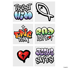 Jesus Graffiti Temporary Tattoos