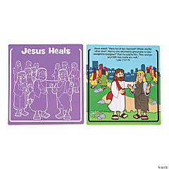 Jesus Heals Leprosy Scratch 'N Reveal Activities