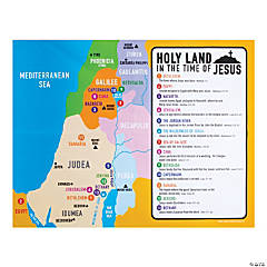 Jesus Holy Land Map