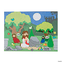 Jesus in the Garden Mini Sticker Scenes