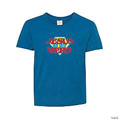 Jesus is My Hero Youth T-Shirt - Small