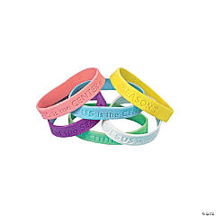 Jesus Is the Center of the Season Easter Sayings Rubber Bracelets