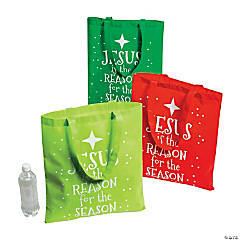 Jesus is the Reason Large Tote Bags