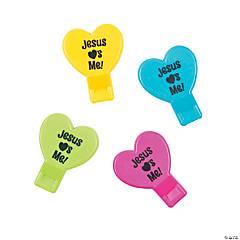 Jesus Loves Me Heart Whistles