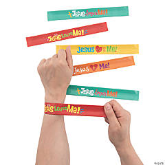 Jesus Loves Me Slap Bracelets