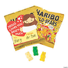 Jesus Loves You Berry Much Haribo® Gummi Bear® Mini Packs with Valentine's Day Cards