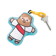Jesus Plush Backpack Clip Keychains