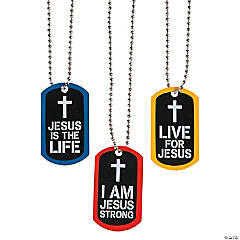 Jesus Strong Dog Tag Necklaces