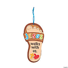Jesus Walks with Us Sandal Craft Kit
