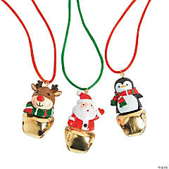 Jingle Bell Character Necklaces
