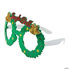 Jingle Bell Wreath Glasses