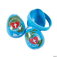 John 3:16 Bracelet-Filled Plastic Easter Eggs - 12 Pc.