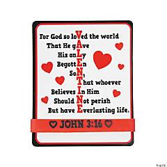 John 3:16 Rubber Bracelets with Valentine's Day Cards - 12 Pc.