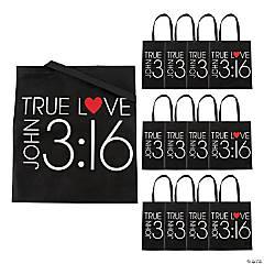 John 3:16 True Love Tote Bags - 12 Pc.