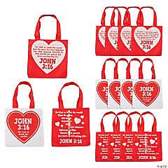 John 3:16 Valentine's Day Tote Bags