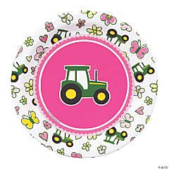 John Deere™ Pink Dessert Plates