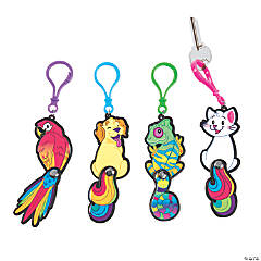 Jointed Rainbow Pet Keychains