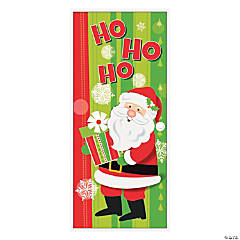 Jolly Santa Christmas Door Cover
