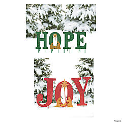 Joy & Hope Yard Sign Decorating Set