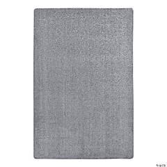 Joy Carpets Endurance 4' X 6' Classroom Rug in Silver