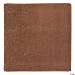 Joy Carpets Endurance 6' X 6' Classroom Rug in Brown