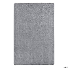 Joy Carpets Endurance 6' X 9' Classroom Rug in Silver