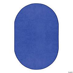 Joy Carpets Endurance 6' X 9' Oval Classroom Rug in Royal Blue