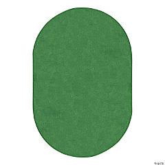 Joy Carpets Just Kidding 6' X 9' Oval Classroom Rug in Grass Green