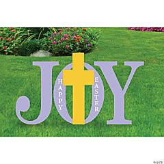 Joy Easter Yard Signs