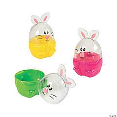 Jumbo Bunny Plastic Easter Eggs - 12 Pc.