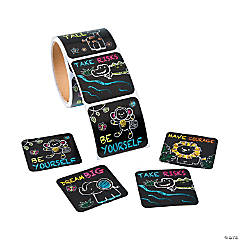 Jumbo Chalkboard Safari Animal Stickers