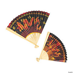 Jumbo Chinese New Year Bamboo Paper Hanging Fans