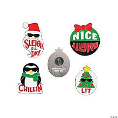 Jumbo Christmas Enamel Pins