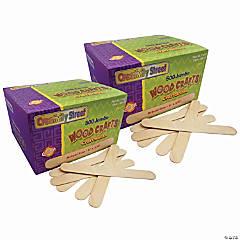 Jumbo Craft Sticks, Natural 6