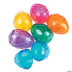Jumbo Diamond Plastic Easter Eggs - 12 Pc.