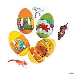 Jumbo Dinosaur Toy-Filled Plastic Easter Eggs - 12 Pc.