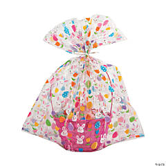 Jumbo Easter Basket Cellophane Bags