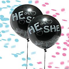 """Jumbo Gender Reveal 36"""" Latex Balloons"""
