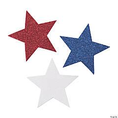 Jumbo Glitter Patriotic Stars