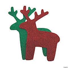 Jumbo Glitter Reindeer Shapes