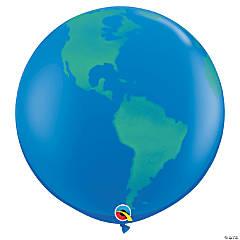 "Jumbo Globe 36"" Latex Balloons"